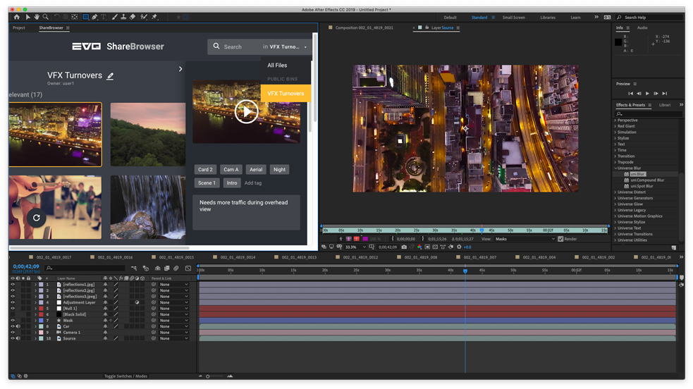 SNS Announces ShareBrowser Extension for Adobe After Effects CC
